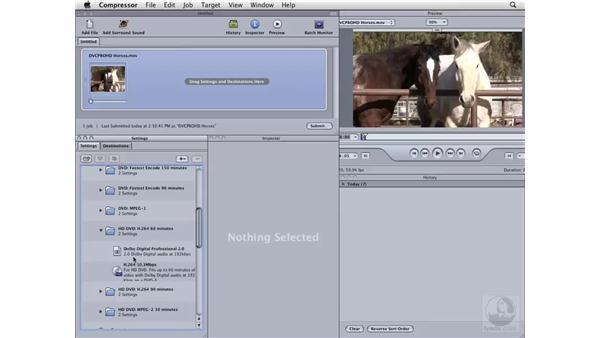 Compressing HD for HD-DVD: Compressor 3 Essential Training
