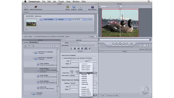 Creating a movie for the web: Compressor 3 Essential Training