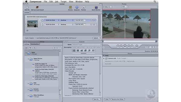 Creating a movie for the iPod or iPhone: Compressor 3 Essential Training