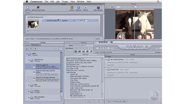 Creating a movie for AppleTV: Compressor 3 Essential Training
