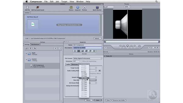 Creating an AC3 File: Compressor 3 Essential Training