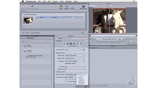 Changing playback frame rate: Compressor 3 Essential Training