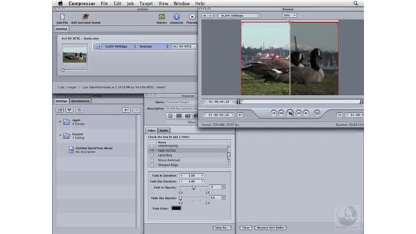 Using video fade ins and outs: Compressor 3 Essential Training