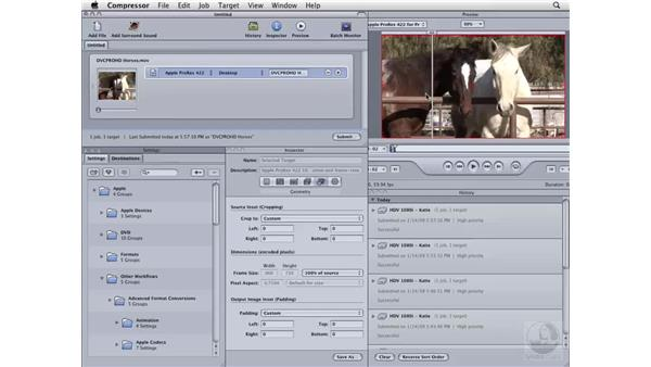 Converting HD to ProRes: Compressor 3 Essential Training