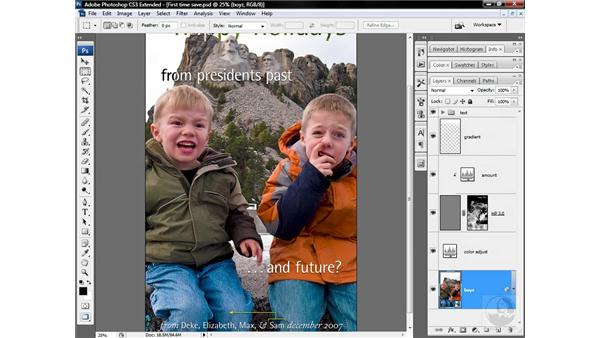 Flattening and saving to TIFF: Photoshop CS3 Sharpening Images