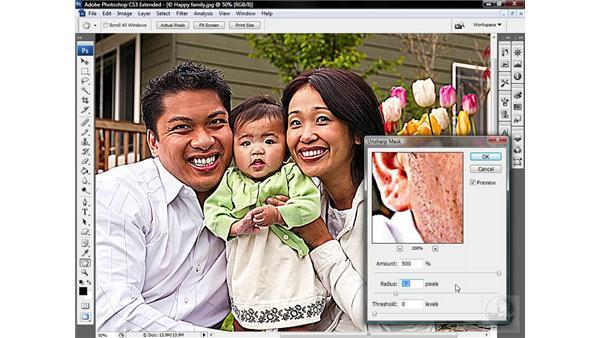 Using the Unsharp Mask filter: Photoshop CS3 Sharpening Images