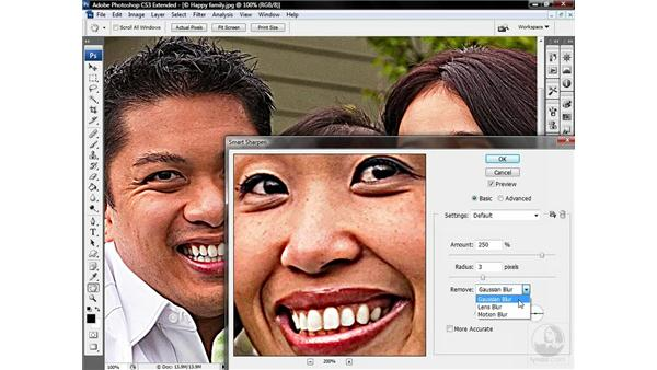 Using the Smart Sharpen filter: Photoshop CS3 Sharpening Images
