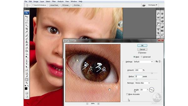 Compensating for camera shake: Photoshop CS3 Sharpening Images