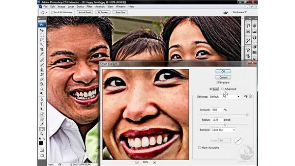 Using Smart Sharpen extras: Photoshop CS3 Sharpening Images