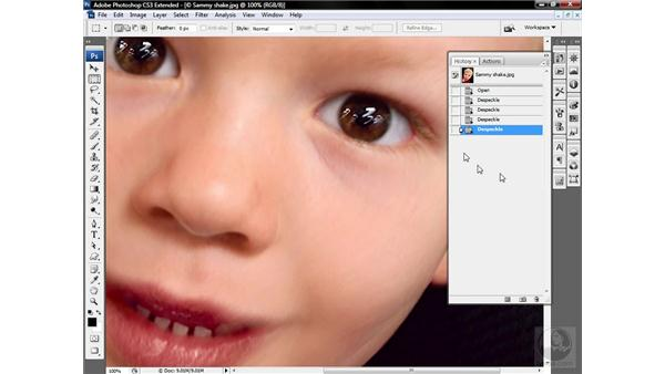 Using the Despeckle filter: Photoshop CS3 Sharpening Images
