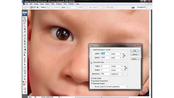 Softening flesh tones selectively: Photoshop CS3 Sharpening Images