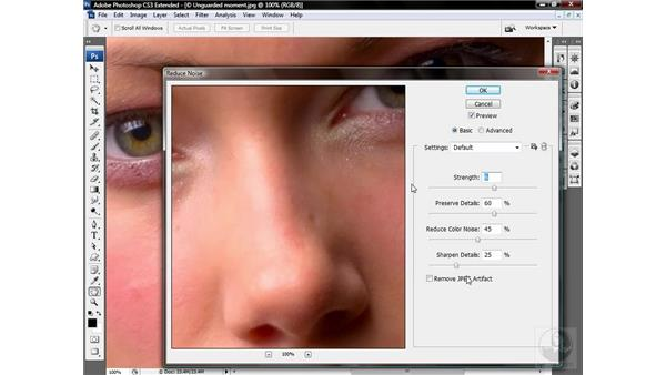 Using the Reduce Noise filter: Photoshop CS3 Sharpening Images
