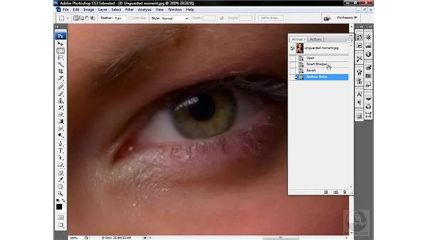 Combining smoothing and sharpening: Photoshop CS3 Sharpening Images