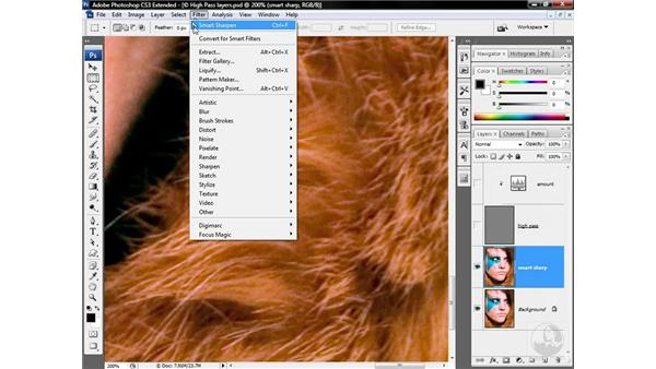 Avoiding clipping with luminance blending: Photoshop CS3 Sharpening Images