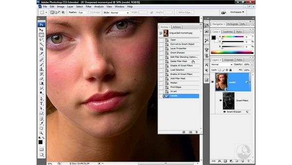 Making an edge mask: Photoshop CS3 Sharpening Images