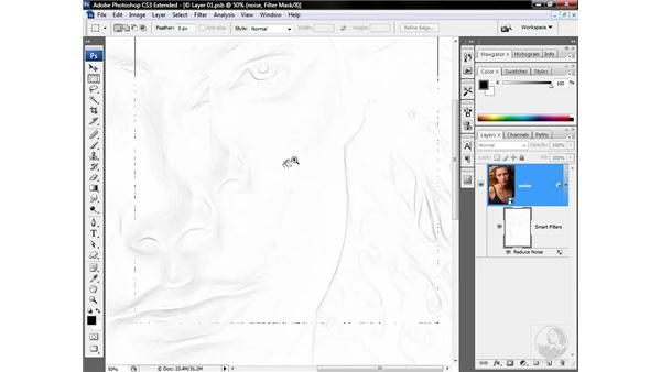 Making a non-edge mask: Photoshop CS3 Sharpening Images