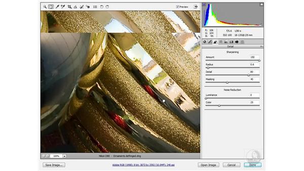 Using on-the-fly edge masking: Photoshop CS3 Sharpening Images