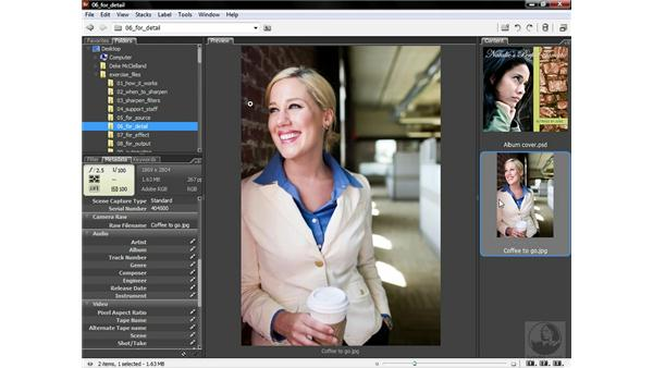 Using low-frequency source sharpening: Photoshop CS3 Sharpening Images