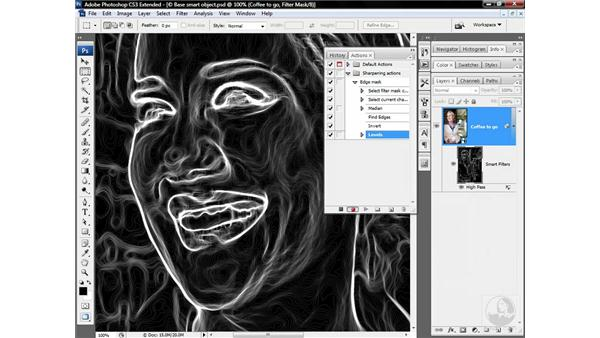 Actioning a low-frequency edge mask: Photoshop CS3 Sharpening Images