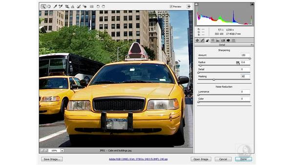 Using high-frequency source sharpening: Photoshop CS3 Sharpening Images