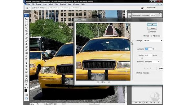Using Smart Sharpen for cityscapes: Photoshop CS3 Sharpening Images
