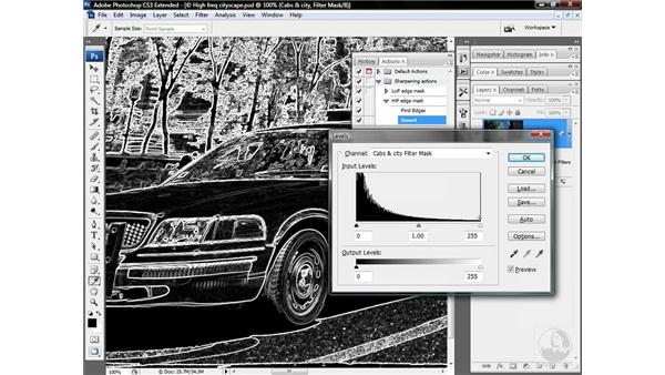 Actioning a high-frequency edge mask: Photoshop CS3 Sharpening Images