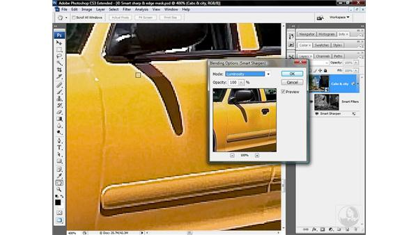 Downplaying color artifacts and clipping: Photoshop CS3 Sharpening Images