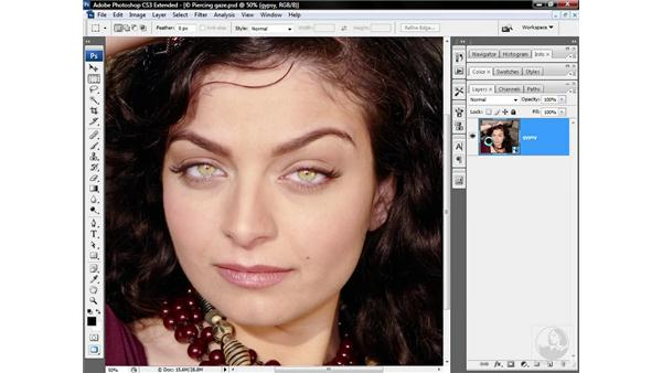 Focusing in on a person's eyes: Photoshop CS3 Sharpening Images