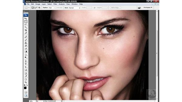 Sharpening dark-haired people: Photoshop CS3 Sharpening Images