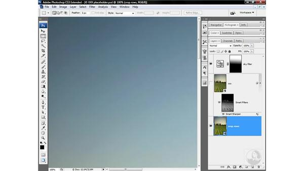 Making a third-level smart object: Photoshop CS3 Sharpening Images