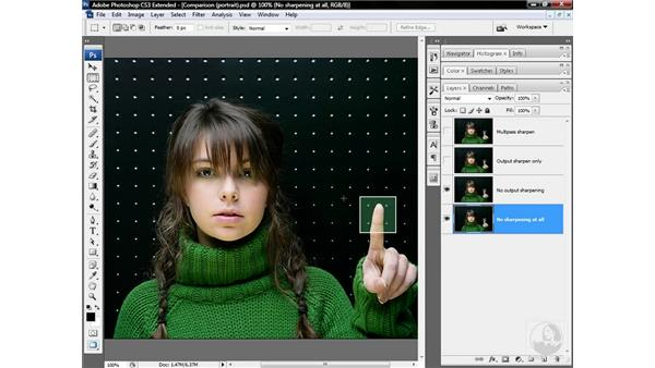 Revealing low-frequency multipass sharpening: Photoshop CS3 Sharpening Images