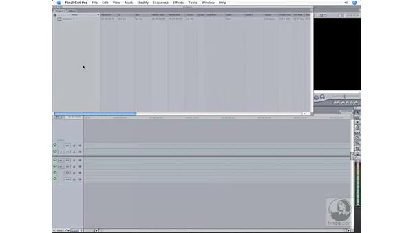 Creating a new project: Final Cut Pro 6 Workflow