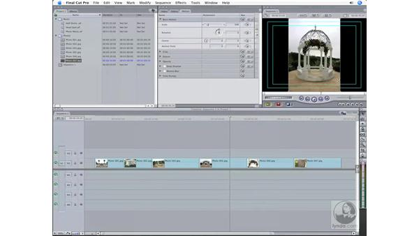 Working with photos: Final Cut Pro 6 Workflow