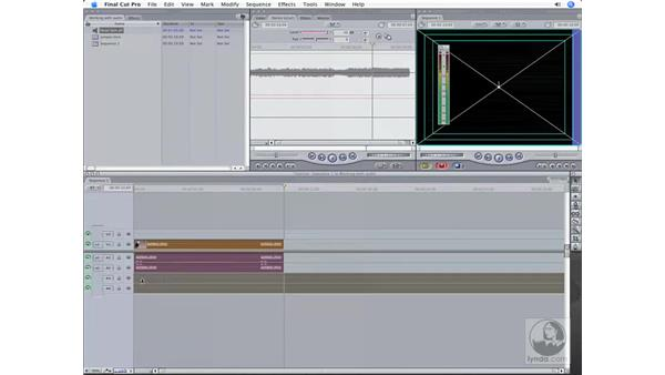 Panning audio and keyframing the volume: Final Cut Pro 6 Workflow