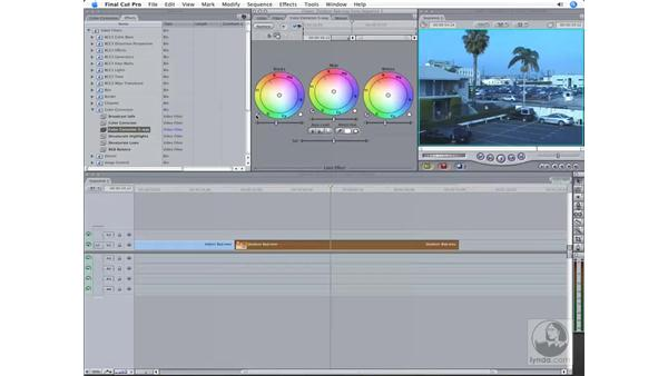 The three-way color corrector: Final Cut Pro 6 Workflow