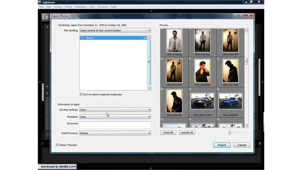 Importing images from a hard drive: Lightroom 1.3 for Digital Photographers