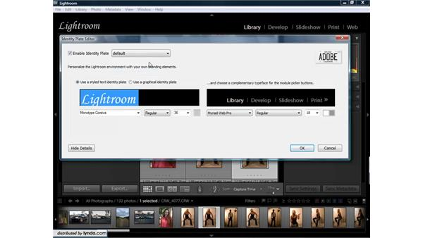 Creating custom identity plates and using logos for end markers: Lightroom 1.3 for Digital Photographers