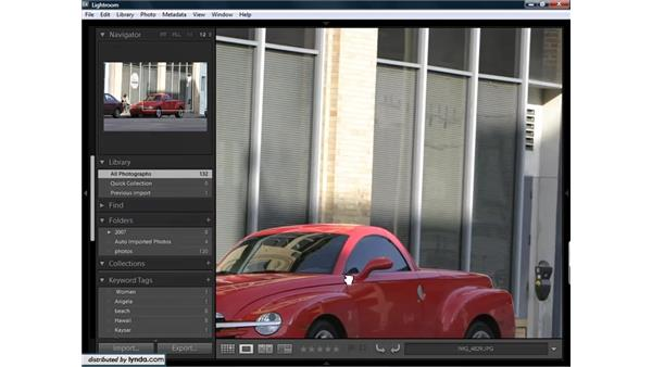 Using Loupe view to get a closer look at images: Lightroom 1.3 for Digital Photographers
