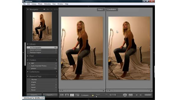 Comparing images and choosing the best: Lightroom 1.3 for Digital Photographers