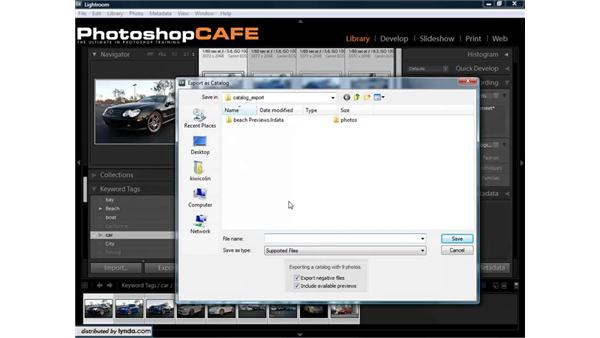 Exporting catalogs: Lightroom 1.3 for Digital Photographers