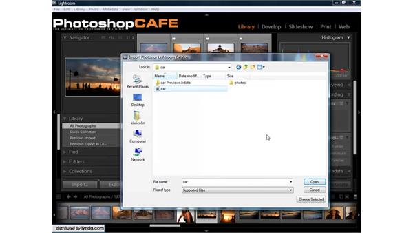 Importing catalogs and managing catalogs on multiple computers: Lightroom 1.3 for Digital Photographers
