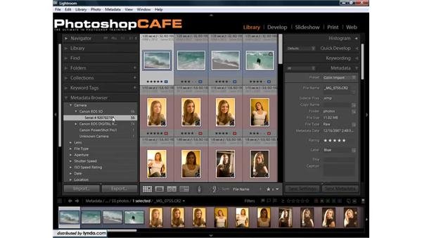 Filtering by metadata to find photos quickly: Lightroom 1.3 for Digital Photographers