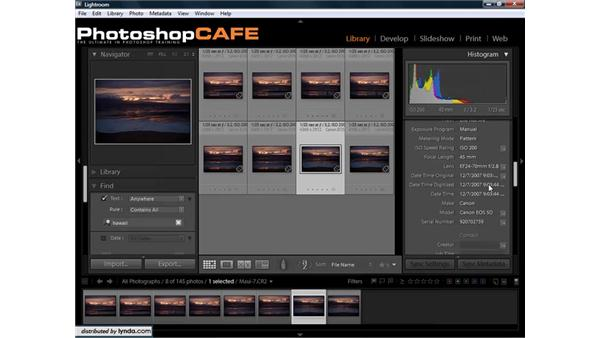 Changing the time zone on photos: Lightroom 1.3 for Digital Photographers
