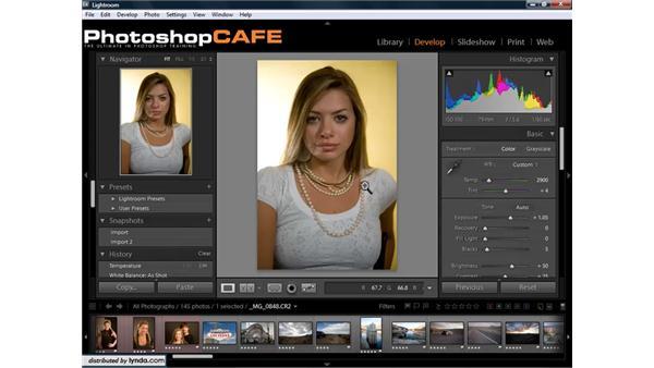 Setting white balance: Lightroom 1.3 for Digital Photographers