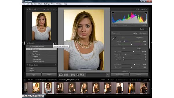 Saving and using presets: Lightroom 1.3 for Digital Photographers