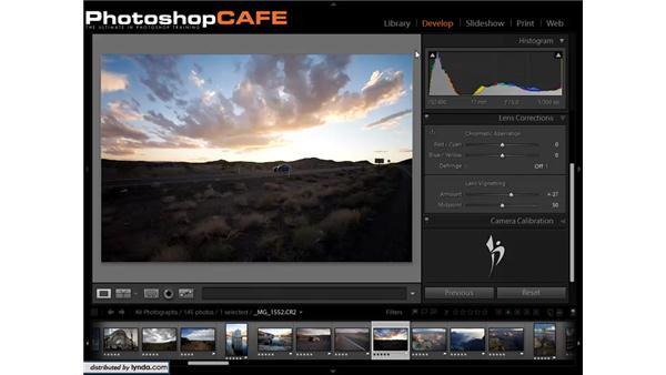 Compensating for a lens vignette and adding a vignette for a creative feel: Lightroom 1.3 for Digital Photographers