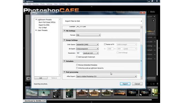 Exporting photos from Lightroom: Lightroom 1.3 for Digital Photographers