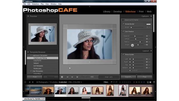 Using slideshow templates: Lightroom 1.3 for Digital Photographers