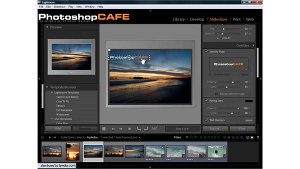 Customizing slideshows: Lightroom 1.3 for Digital Photographers