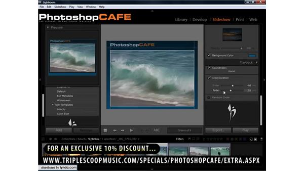Adding music to slideshows: Lightroom 1.3 for Digital Photographers